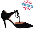 Omara in Black Suede