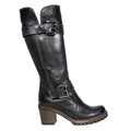tall black leather boot manas womens