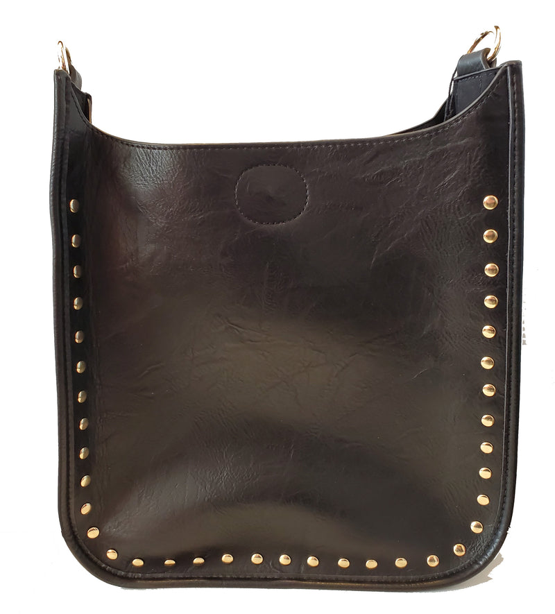 Mix & Match Messenger in Black/Gold Studs