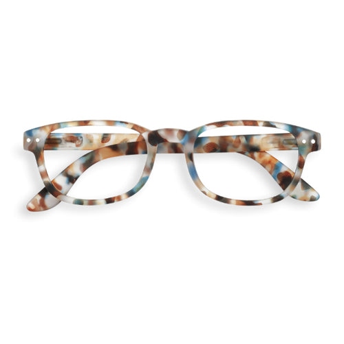 #B Shape Readers in Blue Tortoise