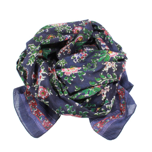 Paisley Floral in Dark Purple