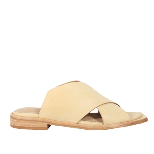 funky neutral flat sandals