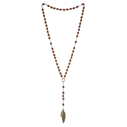 brass wood rosary
