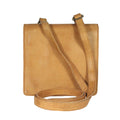 flat small compact travel leather bag crossbody