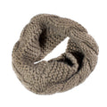 brown knit circular scarf holiday gift