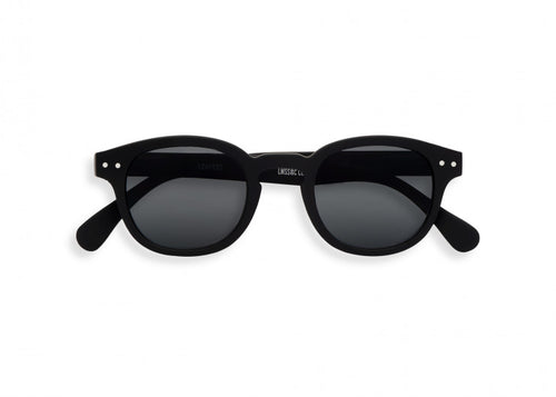 #C Shape Sunglasses in Black