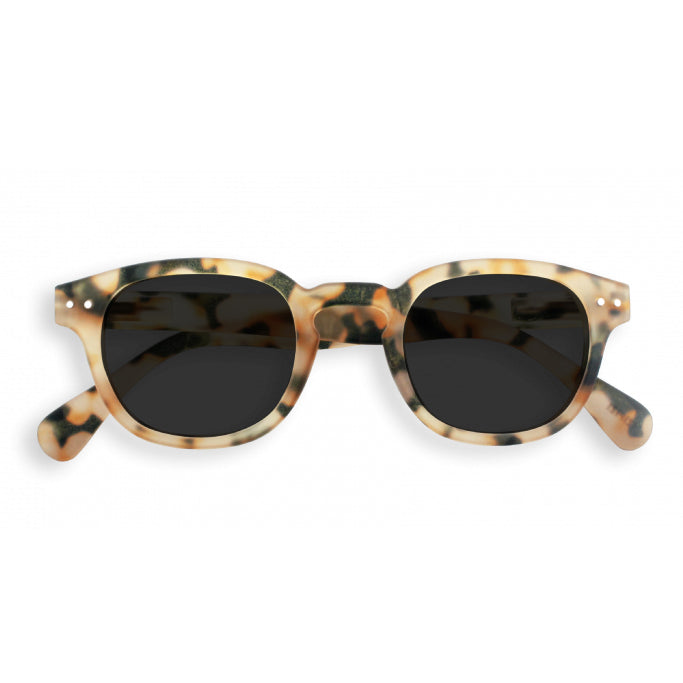 #C Shape Sunglasses in Light Tortoise