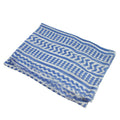soft summer scarf blue white