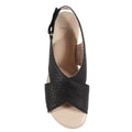 black perforated sandals new