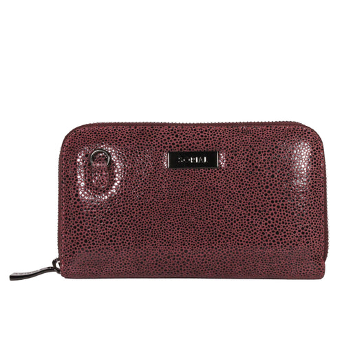 Oceana Chain Wallet in Windsor Wine