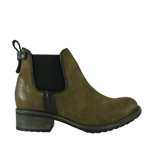 Cherish in Army Green Nubuck
