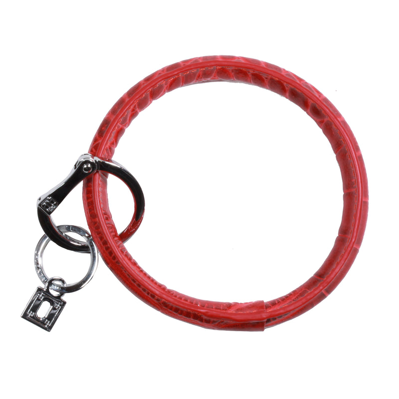 Big O Key Ring in Cherry On Top Croc