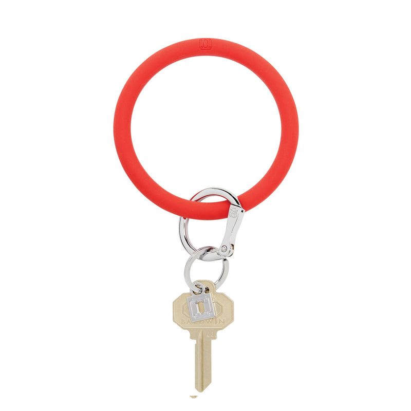 Big O Silicone Key Ring in Cherry on Top