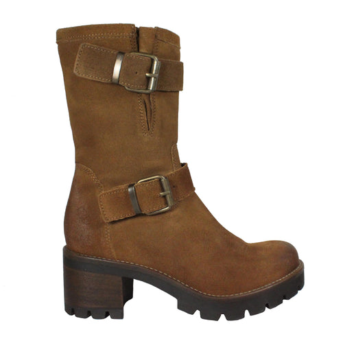 chunky moto booties brown womens fall