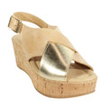 gold tan platform cork cordani