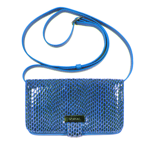Rubina Cell Phone Bag in Cobalt blue clutch wallet