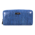 Rubina Zip Around Wallet in Cobalt blue clutch