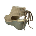 neutral tan spring summer comfort platform sandals
