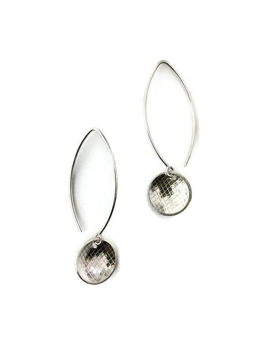 Concave Earrings in Tulle/Marquis/Silver