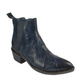 cowgirl cowboy booties pointy toe blue leather