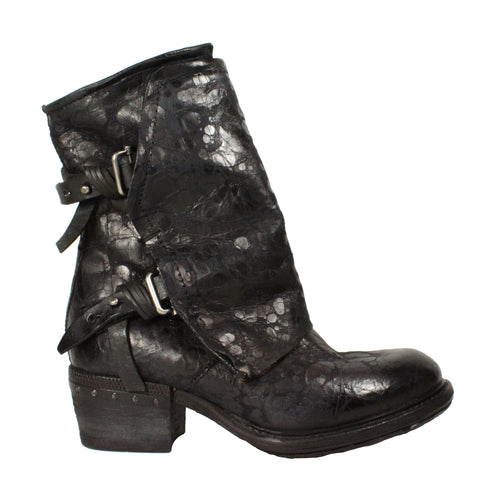 Cavan in Black Crackle booties