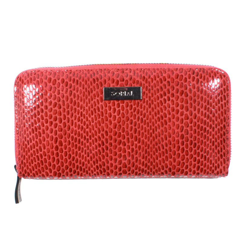 Rubina Zip Around Wallet in Crimson red sorial