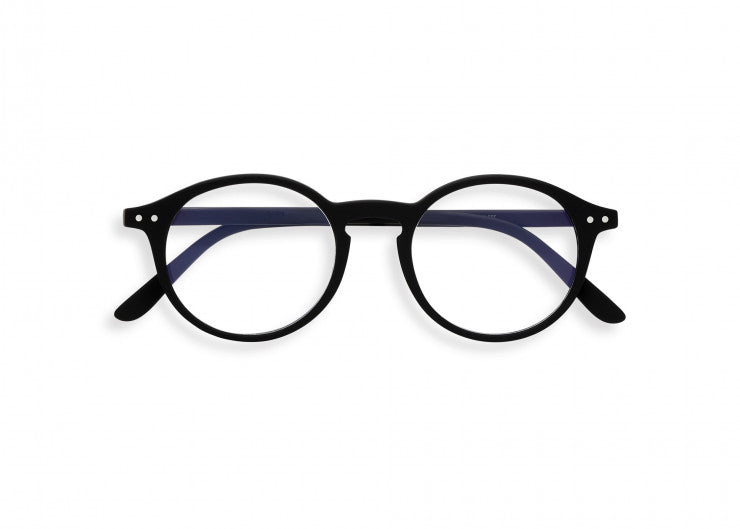 #D Shape Screen Glasses in Black