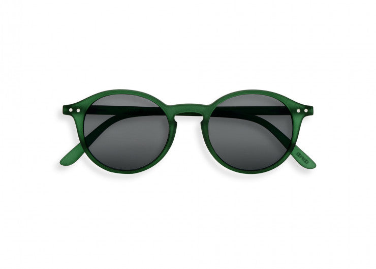 #D Shape Sunglasses in Green Crystal
