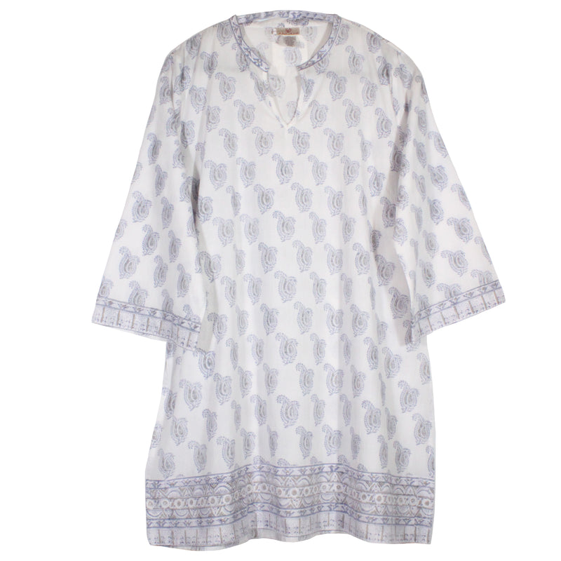 Straight Tunic in Dove Paisley