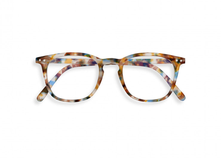 #E Shape Screen Glasses in Blue Tortoise