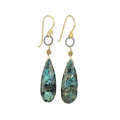 E1044-OG Earrings in Chrysocolla