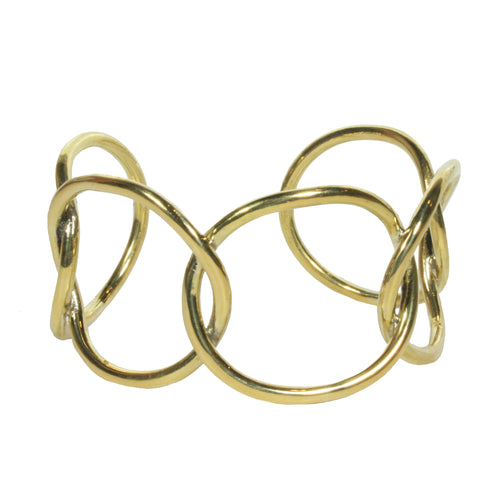 Fania Statement Cuff brass ethical
