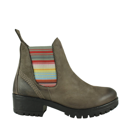 Florida in Grey Nubuck/Multi Stripe