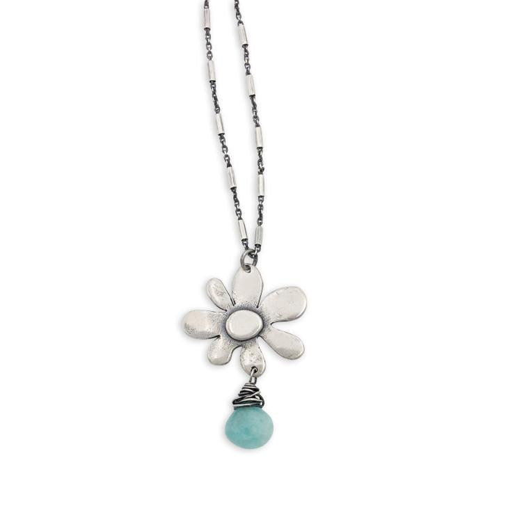 Spring Bloom with Amazonite Necklace