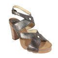 fly london heels boxy metalllic