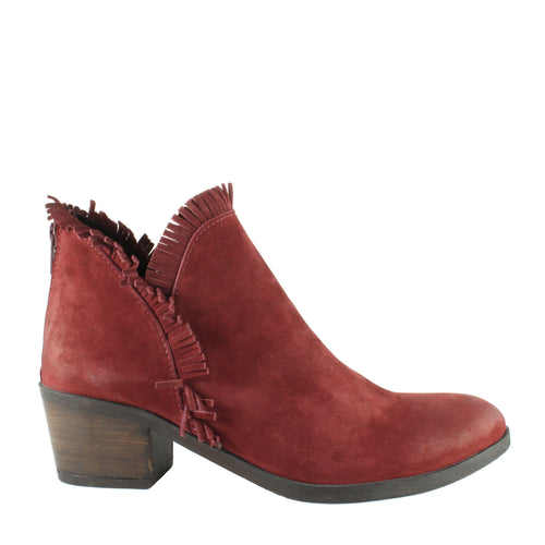 Cathy in Dark Red Tulip Nubuck