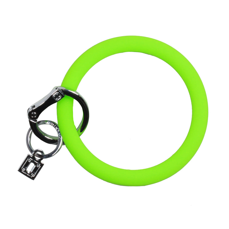 Silicone O Key Ring by O-Venture in Grass Green