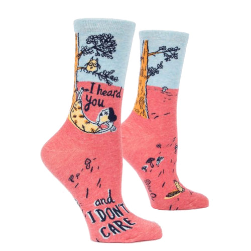 I Heard You, Don't Care Crew Socks