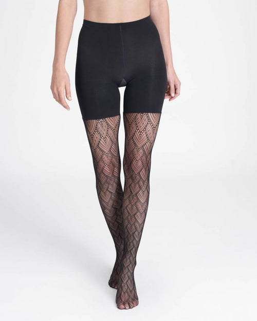 Tight End Heart-to-Heart Tights in Black