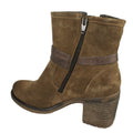 heeled booties brown bos and co
