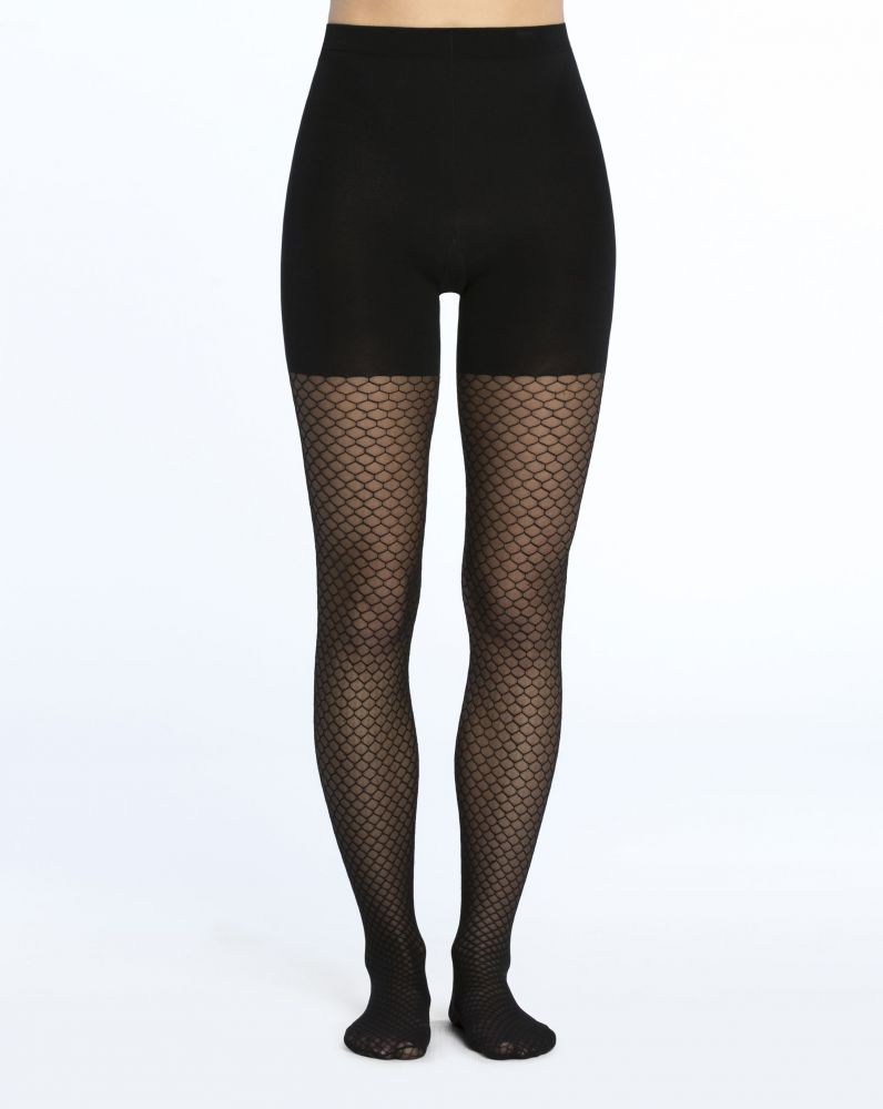 Honeycomb Fishnet Tights in Black