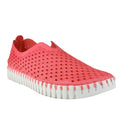 perforated leather slip on sneaker