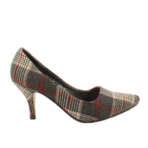 Lady Brooks in Grey/Red Plaid