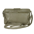 olive green leather small bag crossbody wallet