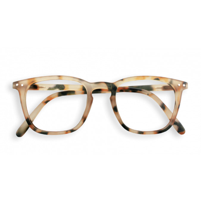 #E Shape Readers in Light Tortoise