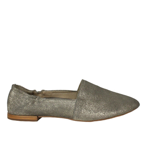 Taj in Pewter Suede metallic