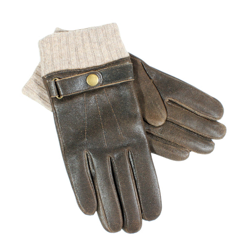 mens gloves distressed leather