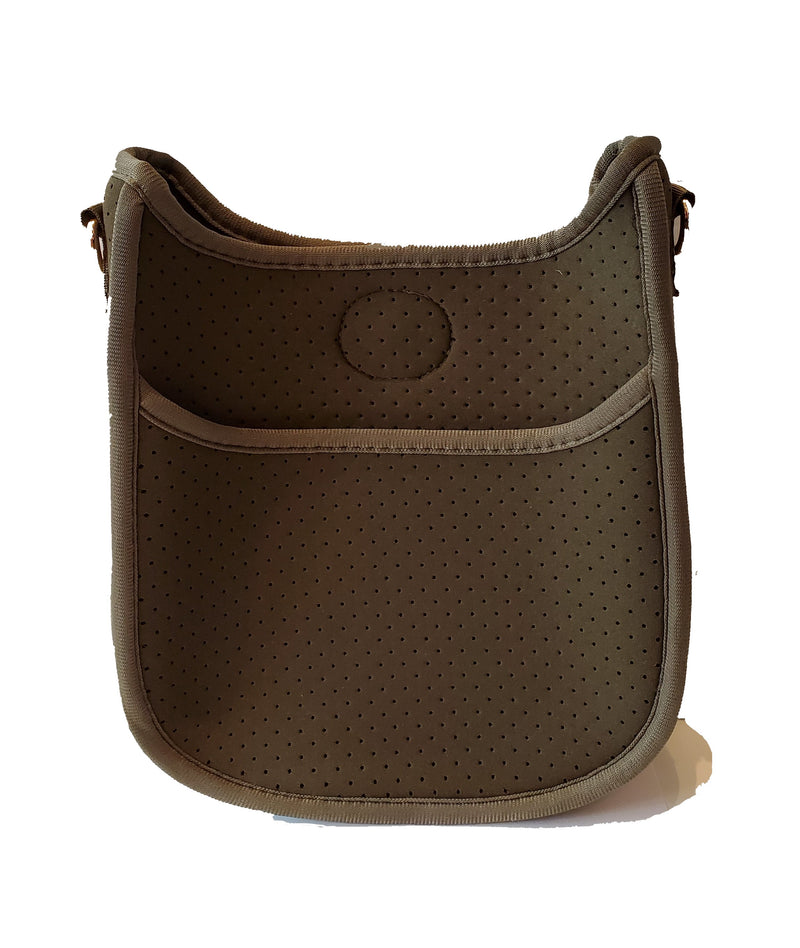 Mix & Match Mini Perf Neoprene Messenger Bag in Army