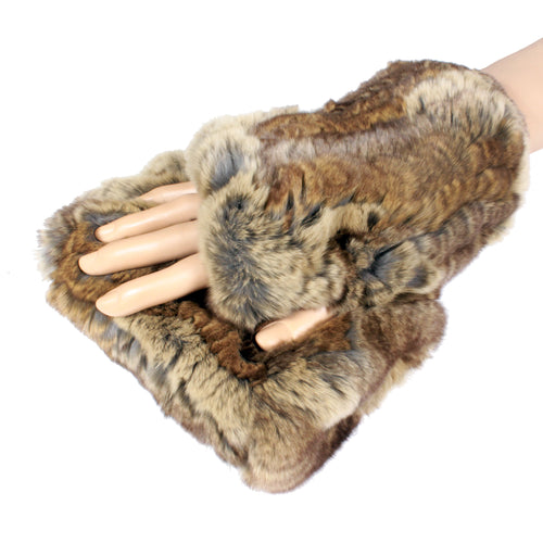 natural fur hand warmers