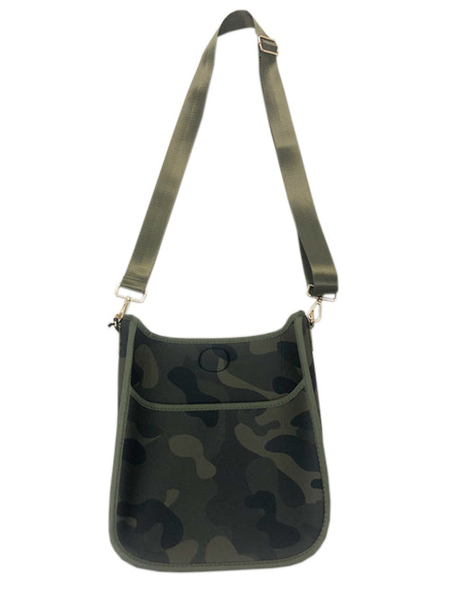 Neoprene Messenger Bag in Army Camo/Army Strap